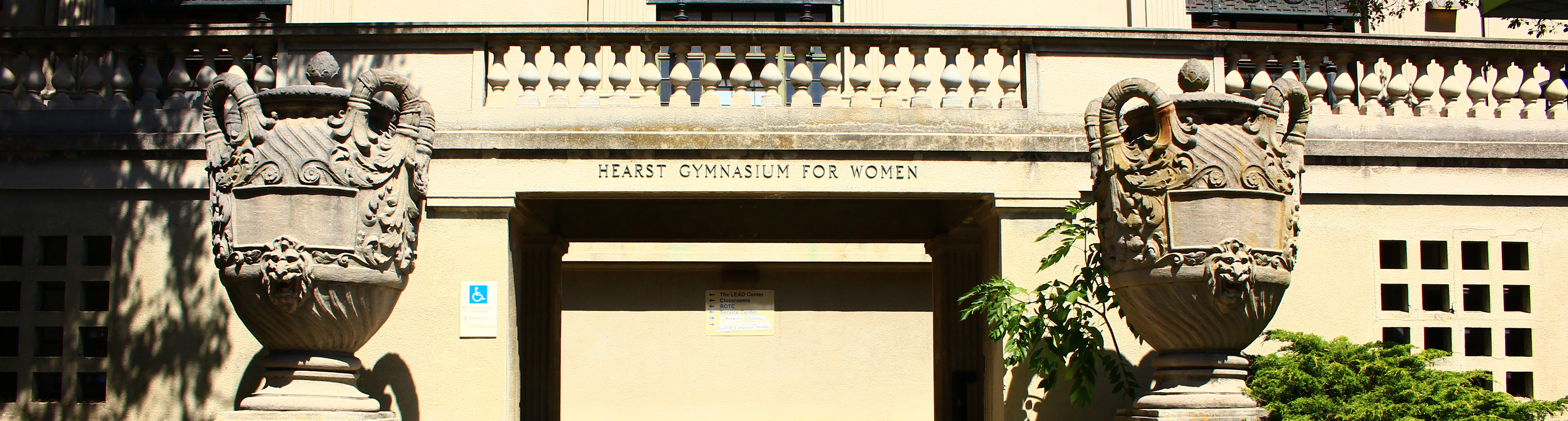 West entrance of Hearst Gymnasium
